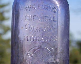 Great old antique BIG G bottle, G for GONORRHEA cure Quack Medicine bottle from 1800's
