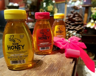 Honey Sampler - Spring Blossom, Summer Wildflower, Fall Goldenrod 8 oz. each Ohio Honey