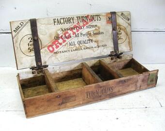 Vintage General Store Display Cigar Box Unique Advertising Tobacciana