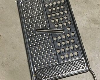 Metal Grater, Aluminum Cutter, Food Shredder, Vintage Grater, All in One Grater, Kitchen Decor, Metal Kitchenalia, Country Kitchen,Farmhouse