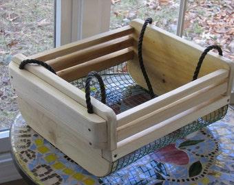 Original design cedar garden basket