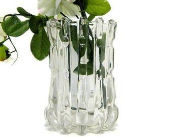 Antique EAPG United States Glass Broken Column Pattern Celery Vase