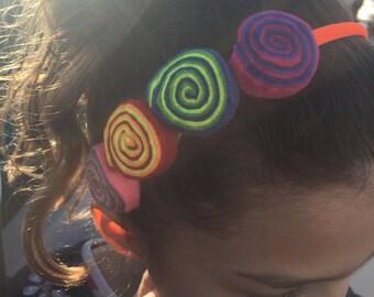 Ojo De Dios rainbow headband