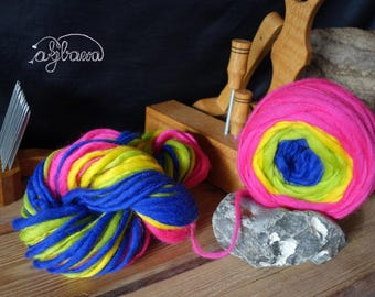 handspun selfstriping yarn No 170122