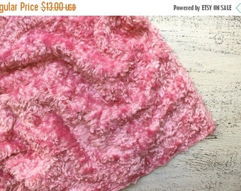 FLASH SALE Pink vintage plush vintage viscose for making teddy bear