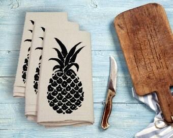 Pineapple Tea Towel Flour Sack Towel Kitchen Towel