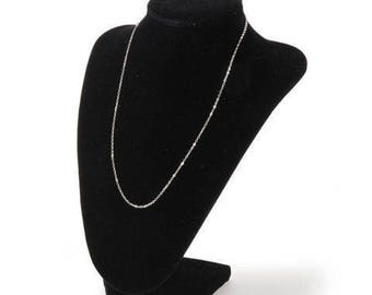 BLACK VELVET 9 Inch High DISPLAY Bust for Necklaces and Scarves - New !!