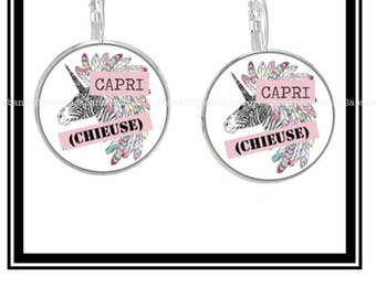 "Original earrings ""Capri (bitch)"""
