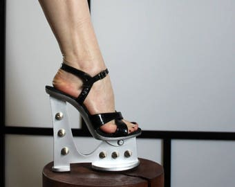 Lucious - Metal spike shoes - US size 6, Eu size 36.5