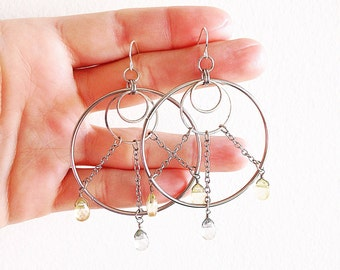 Dreamcatcher Earrings Boho Festival Jewelry