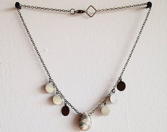 Boho Leopard Agate Necklace. Hippy Hippy Shake Collection