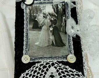 Handmade Junk Journal, Junque - Diary, Memory book, Blank book, Vintage, Victorian, Large,  Manual, Keepsake, Notebook