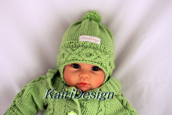 Knitting Patterns Baby Hat Knitting Reborn Earflap Hat Cable Hat