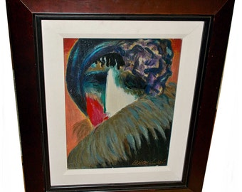 Barbara A Wood Serigraph on titled Heba Signed and Numbered Limited Edition