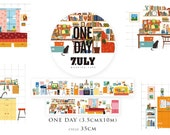 1 Roll Limited Edition Washi Tape: One Day