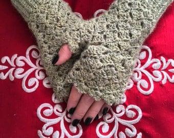 Alpaca Fingerless Mitts, Crocheted Fingerless Mitts, Fingerless Gloves