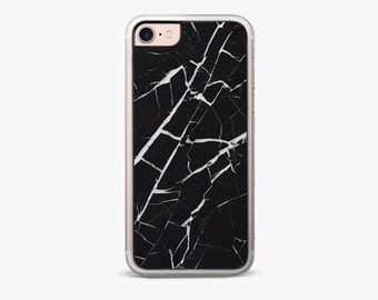 Marine Black Marble iPhone 7 Case / Luxury iPhone 7 Plus Case, iPhone 6s case, iPhone 6 plus cover