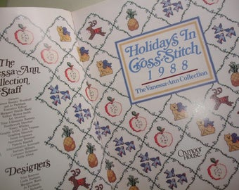 Holidays Cross Stitch 1988 and Alma Lynne's Country Cross Stitch 1990
