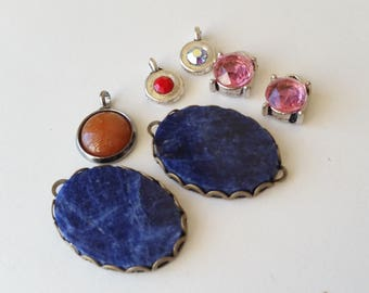 Sodalite connectors and charms