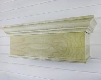 Bed Crown, Crib Crown Canopy, Cornice, Unpainted, DIY