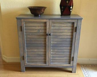 Handmade Rustic Pine Entryway Cabinet