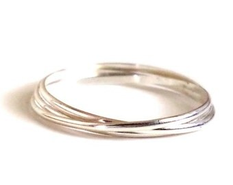 Silver Trinity Rolling Band Ring