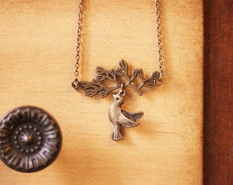 The retro forest wants the bird necklace 0313