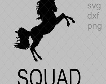 Unicorn Squad SVG Png Dxf File Instant Download Child Shirt Design Birthday Svg Png Dxf File