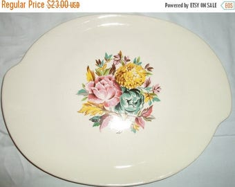 ON SALE Vintage retro American Limoges china platter Glamour