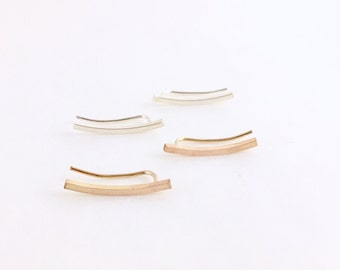 Curve Climbers // sterling silver or gold fill