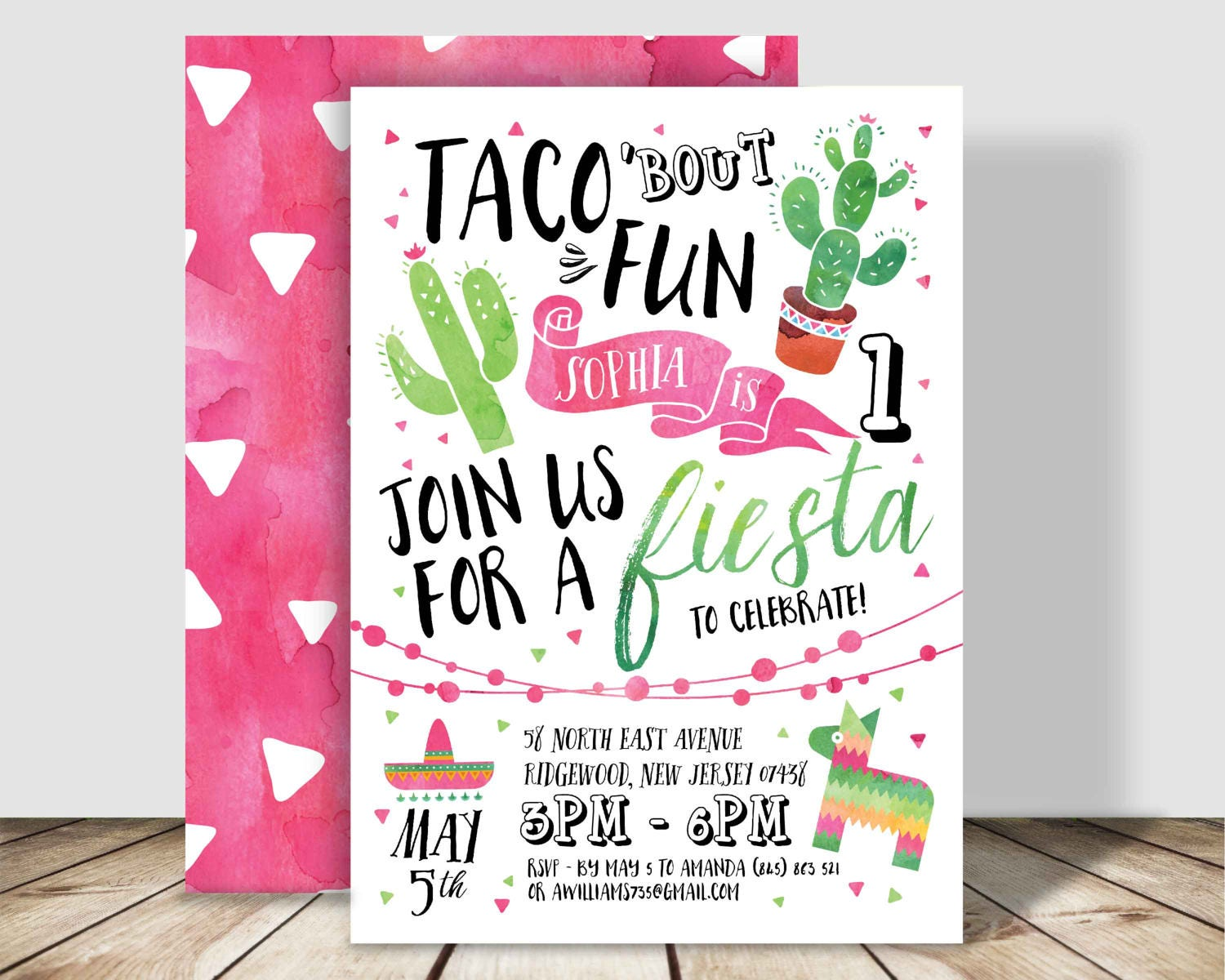 Taco Bout Fun Fiesta Birthday Party Invitation X - Birthday party invitation in spanish