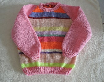 Baby/Toddler Jumper Unique Hand Knitted 22-24 Inch 18-24 Months