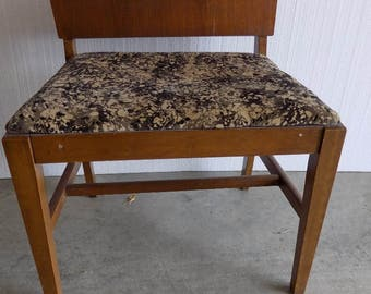 Retro Vanity Bench VANITY Upholstered Seat  High Back