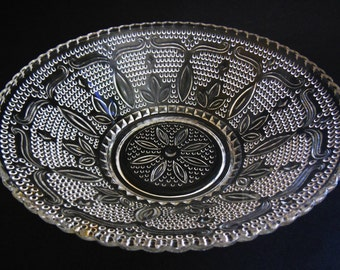 "offers considered Heritage 8 1/2"" Clear Serving bowl by Federal Glass Co."