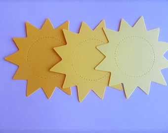 Large Sun Shaped Diecuts Cardstock Die Cuts - Cuts  Cardstock for DIY Banners