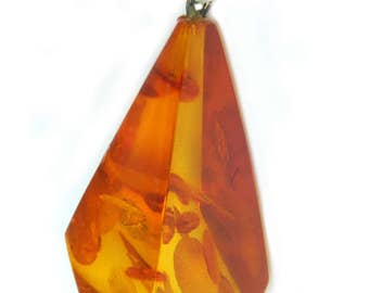 Antique Baltic Amber Necklace Pendant Honey Cognac Natural Organic Statement Jewelry Gift Idea For Her Coupon Sparkle2017 For 15% Discount
