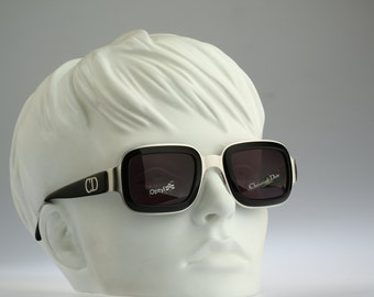Christian Dior CD2036 79D /  Vintage sunglasses / NOS /  90s rare and unique square double rim frame