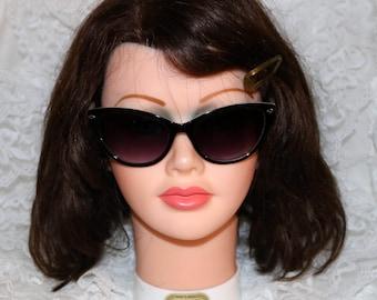 Vintage Olsenboye Sunglasses - Black Cream - 3435101310 - 57[]17 - 137 - Two Tone Catseye