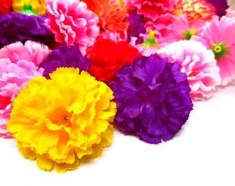 "2"" Hawaiian Carnation Heads (Pack of 24) - Assorted color - Artificial Flower, Silk Flower Heads"