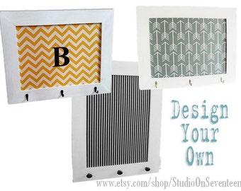 Large Fabric Cork Board-Fabric Corkboard-Custom Framed CorkBoard-Design Your Own Distressed Board-Pin Board-Bulletin Board- 24x30 - Monogram