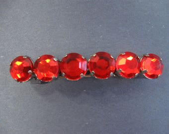 Red Hair Barrette, Rhinestone Hair Clip Barrette, Hair Accessory, Red Hair Clip, Teen Girls, Women, Gift for Her