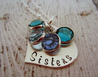 Sterling Silver Sisters Necklace, Matching Sister Necklaces, Jewelry for Sisters, Necklace for Sisters, Sisters Jewelry, Sisters Necklace