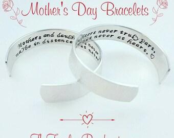 Mother Daughter Bracelet, Gift for Mom, Gift for Daughter, Secret Message Bracelet, Mothers Day Gift, Gift from Daughter, Mom Bracelet