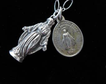 Virgin Mary Figural Holy Medal
