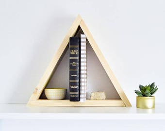 The Pyramid Shelf | Bare Finish