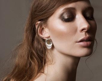 Earrings Tortuga/Sterling silver\Bronze