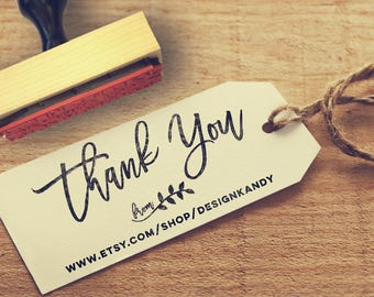 Etsy Shop Thank You Stamp, Business Stamp, Thank you tag, rubber stamp, self inking stamp, Etsy store stamp