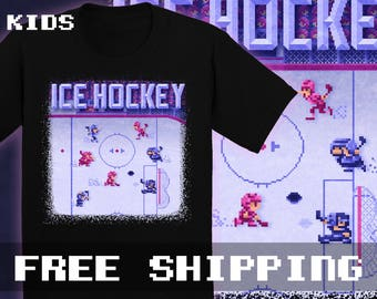 Hockey Ice T-Shirt, Kids, Toddler, Baby  * Free Shipping * Great Gamer Gift