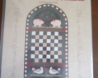 Country Checkers Wall Quilt Pattern