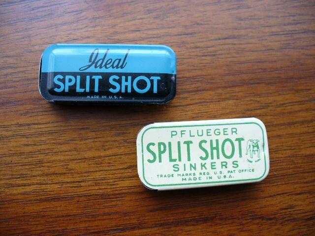 Vintage 1950 39 s split shot lead weights fishing fly sinkers for Fly fishing split shot